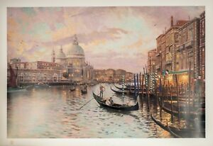 """""""Venice Sunset on the Grand Canal"""" by Thomas Kinkade Signed LE on Paper 516/4850"""
