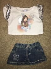 "EUC BUILD-A-BEAR WORKSHOP 18"" I Carly Outfit Sequins Skirt And Shirt BABW"