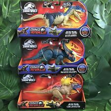 Battle At Big Rock Jurassic World Dino Rivals Allosaurus Nasutoceratops Lot