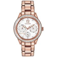 Citizen Eco-Drive Women's Silhouette Crystal Analog  Gold Watch-FD2013-50A