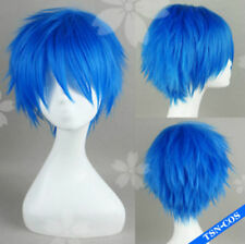 New Popular home KAITO brother navy blue turned Alice COS wig + hairnet 1071