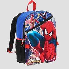 """Marvel Ultimate Spider-Man 16"""" School Backpack Detachable Lunch Bag Set"""