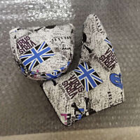 1x Blue Union Jack Skull Putter Cover Golf Headcover For Taylormade Odyssey Ping