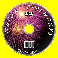 WATCH VIRTUAL FIREWORK DISPLAY DVD FOR ANY TV OR MONITOR, MULTI  DISPLAYS NEW