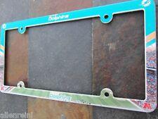 1 miami dolphins ez view pvc car or truck license plate frame - Miami Dolphins License Plate Frame