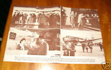 UNITED AIR LINES BROCHURES ON PHOTOS AND HOW TO CHECK IN 1950 'S