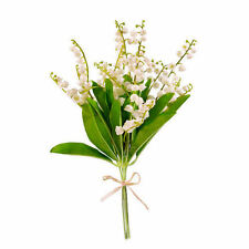 Artificial Lily of the Valley Flowers - 6 Stem Bunch