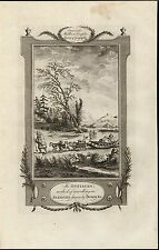 Siberians Traveling Dog Sled Huskies Snowshoes 1778 antique engraved print