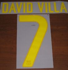 Barcelona Spain David Villa #7 Authentic Soccer Name Set Font For Jersey Futbol