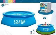 INTEX 28112 PISCINA EASY ROTONDA TONDA 244 x 76 CM CON POMPA FILTRO 28602 mshop