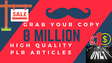 Huge Ready Content - 8 Million Articles + 10k eBooks - Put your name as Author!