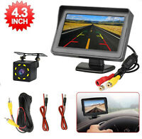 "Car Rear View Backup Reverse 8 Led Camera Night Vision + 4.3"" TFT LCD Monitor"