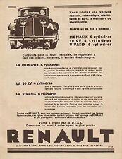 Y9106 Automobile RENAULT Monasix - Pubblicità d'epoca - 1930 Old advertising