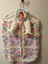 Vintage Crocheted Baby Diaper Clothes Holder