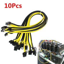 10pcs/lot 20cm 6 Pin to 8Pin (6+2Pin) PCI-E PCIE Cable Mining Adapter 18AWG Cord