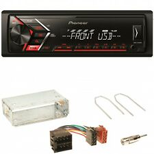 Pioneer MVH-S100UB Autoradio USB 1-DIN  Einbauset für Opel Astra F G Corsa B Zaf