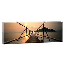 Brücke Leinwand Bilder Panorama Modern Design Landschaft XXL 150 cm*50 cm 634