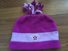 Girls Pink Winter Snow Hat Size 4-6 GUC The Children's Place
