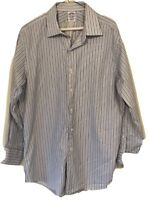 Brooks Brothers LS Button Down Dress Shirt Slim Fit Mens Size 16.5 32