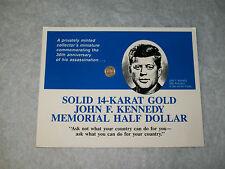 14K GOLD JOHN F. KENNEDY MEMORIAL HALF DOLLAR MEDALLION