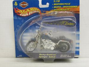 Motorrad Harley-Davidson Springer Softtail in blau, OVP, Hot Wheels, 1:18