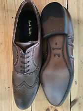PAUL SMITH miller brogue full leather shoes 9 chocolat brown new boxed Italy