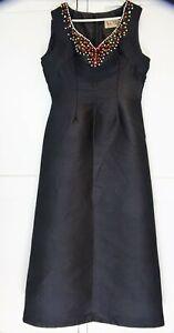 Vera Mont Vintage Black Long Dress Size 44 UK 16
