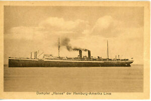 Hamburg Amerika Line's economy liner HANSA of 1921  (ex-DEUTSCHLAND of 1900)