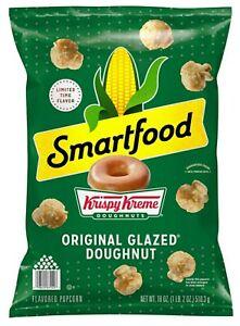 Smartfood Krispy Kreme Doughnuts Original Glazed Doughnut Popcorn 18 oz Bag