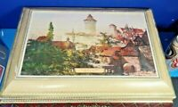COLLECTIBLE GERMAN ADVERTISING METAL TIN COOKIE CONTAINER NURNBERG