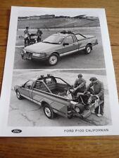 Ford P100 californiana comunicado de prensa y fotografía