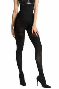 Spanx Very Black Luxe Leg All Day Shaping High Waisted Slimming Trim Tights