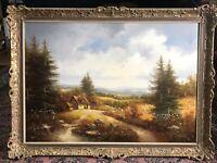 Original Gemälde Mit Zertifikat. Jan Van Der Leupen. Spätsomner 1.20 X 0,85