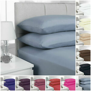 Extra Deep 40cm Fitted Sheet Bed Sheets Single Double King Super King