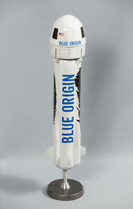 """1:48 SCALE MODEL OF BLUE ORIGIN NEW SHEPARD, MADE OF PLASTIC (15"""" TALL)"""