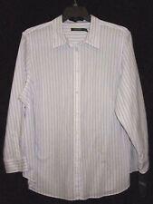 NWT Ralph Lauren Woman 16W Casual Blue Stripe Cotton Shirt Top 1X NEW Cat Rescue
