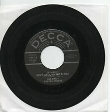 BILL HALEY AND HIS COMETS   ROCK AROUND THE CLOCK    EARLY   DECCA   45