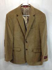 e2deb41b7 NEW Adolfo Blazer Jacket Suit Coat Mens 40 Brown Corduroy Two Button Elbow  Patch