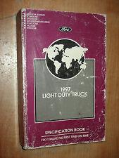 1997 FORD TRUCK SPECIFICATIONS MANUAL ORIGINAL BOOK F150 F250 SUPER DUTY & MORE