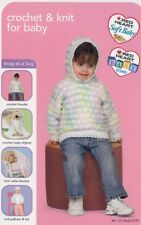 Crochet & Knit for Baby Blanket Hoodie PATTERN/INSTRUCTIONS NEW 4 Designs