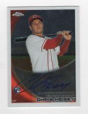 Chris Heisey AUTOGRAPH RC Cincinnati Reds 2010 Topps Chrome #192 Baseball Card