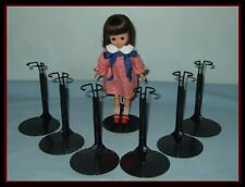 """6 BLACK Kaiser TINY BETSY McCALL Doll Stands for Vintage 9"""" SKIPPER Penny Brite"""