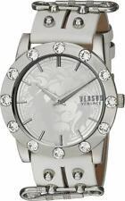 Versus by Versace Women's S73010016 'MIAMI CRYSTAL' Quartz White Leather Watch