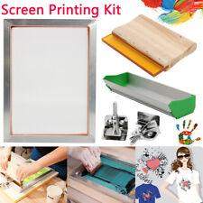 Silk Screen Printing Machine Press Frame Kit Set Support for T-Shirt DIY Printer