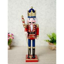 38cm Wooden Nutcracker King Puppets Doll Toy Christmas Ornaments Decor Gifts