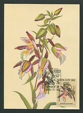 RUSSIA MK 1991 FLORA ORCHIDEEN ORCHIDS MAXIMUMKARTE MAXIMUM CARD MC CM m190/2