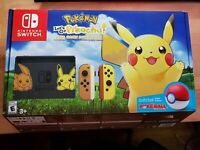 Nintendo Switch Pikachu Edition Bundle Pokemon Let's Go Pikachu + Poke Ball Plus