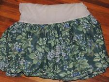 LAURA ASHLEY BRAMBLE TWIN BED SKIRT DUST RUFFLE GREEN BLUE BERRY