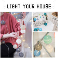 Feenlich 10-40 LED Lichterkette Bälle Baumwollkugeln Litch Cotton Xmas Lights