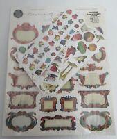 Punch Studio Stickers Assortment  Scrapbook Vintage